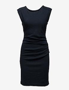 India Round-Neck Dress - midi kjoler - midnight marine