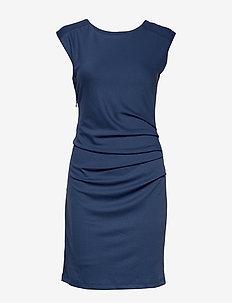 India Round-Neck Dress - TRUE NAVY