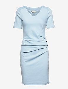India V-neck ½ sleeve - ANGEL BLUE