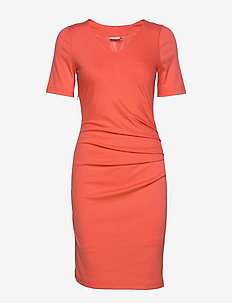 India V-neck ½ sleeve - LIVING CORAL