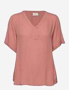 Amber SS blouse - bluzki krotkim rekawem - old rose