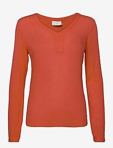 Amber L/S Blouse- MIN 2 - blouses med lange mouwen - cherry tomato