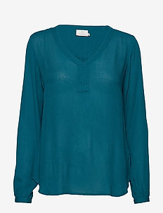Amber L/S Blouse- MIN 2 - MOROCCAN BLUE