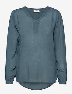 Amber L/S Blouse- MIN 2 - langærmede bluser - orion blue