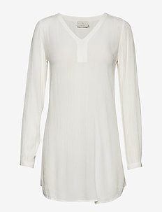 Amber V-Neck Tunic - CHALK
