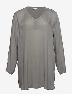 Amber V-Neck Tunic - SMOKED PEARL