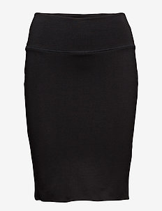 Penny Skirt - midi-röcke - black deep