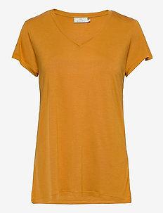 Anna V-Neck T-Shirt - t-shirts - inca gold