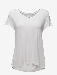 Anna V-Neck T-Shirt - t-shirts - optical white