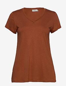 Anna V-Neck T-Shirt - t-shirts - sierra