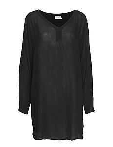 Amber V-Neck Tunic - BLACK DEEP