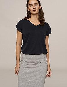 Penny Skirt - do kolan & midi - grey melange