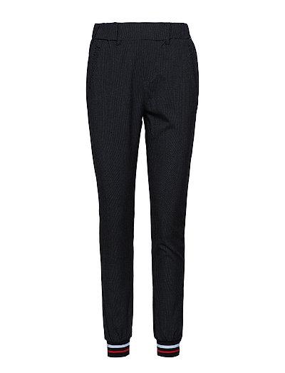 Rona Jillian Tie Pants - BLACK DEEP