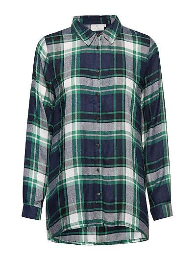 Carolina Checked Shirt - MIDNIGHT MARINE / VERDANT