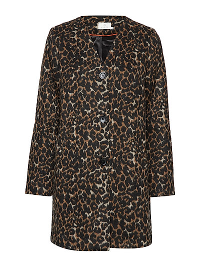 Lesley Leo Coat - BLACK DEEP