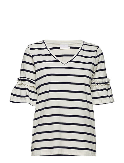 Lina T-shirt - CHALK / 52737 MIDNIGHT MARINE
