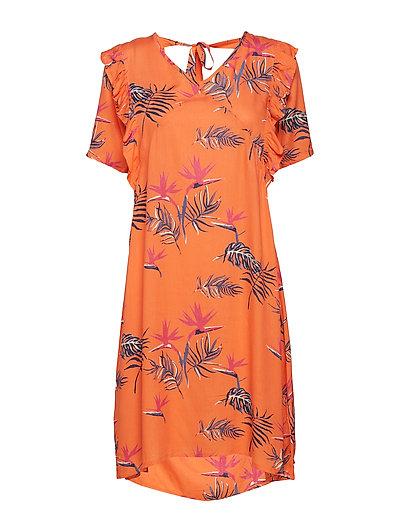 Trine Dress - BRIGHT ORANGE