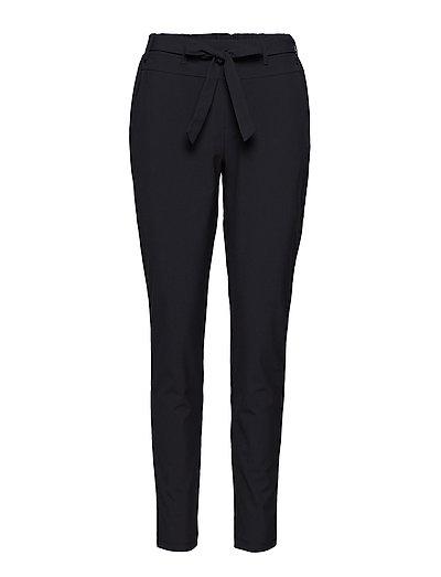 Nanci Jillian Belt Pants - BLACK DEEP