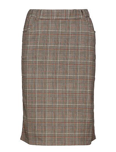 Caroline Tape Skirt - AFTER DARK BROWN