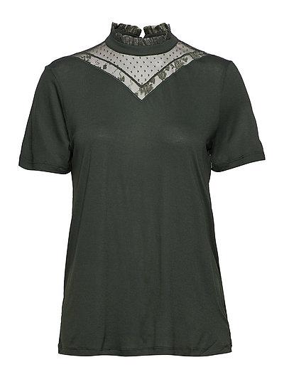 Thit Lace T-shirt - KOMBU GREEN