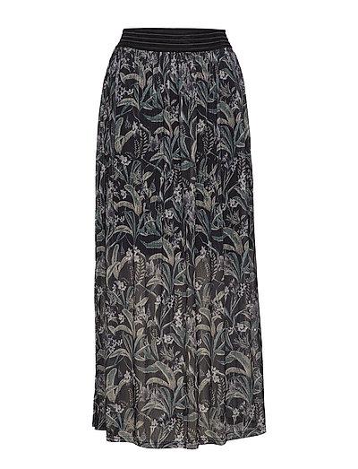Nona Long Skirt - BLACK DEEP