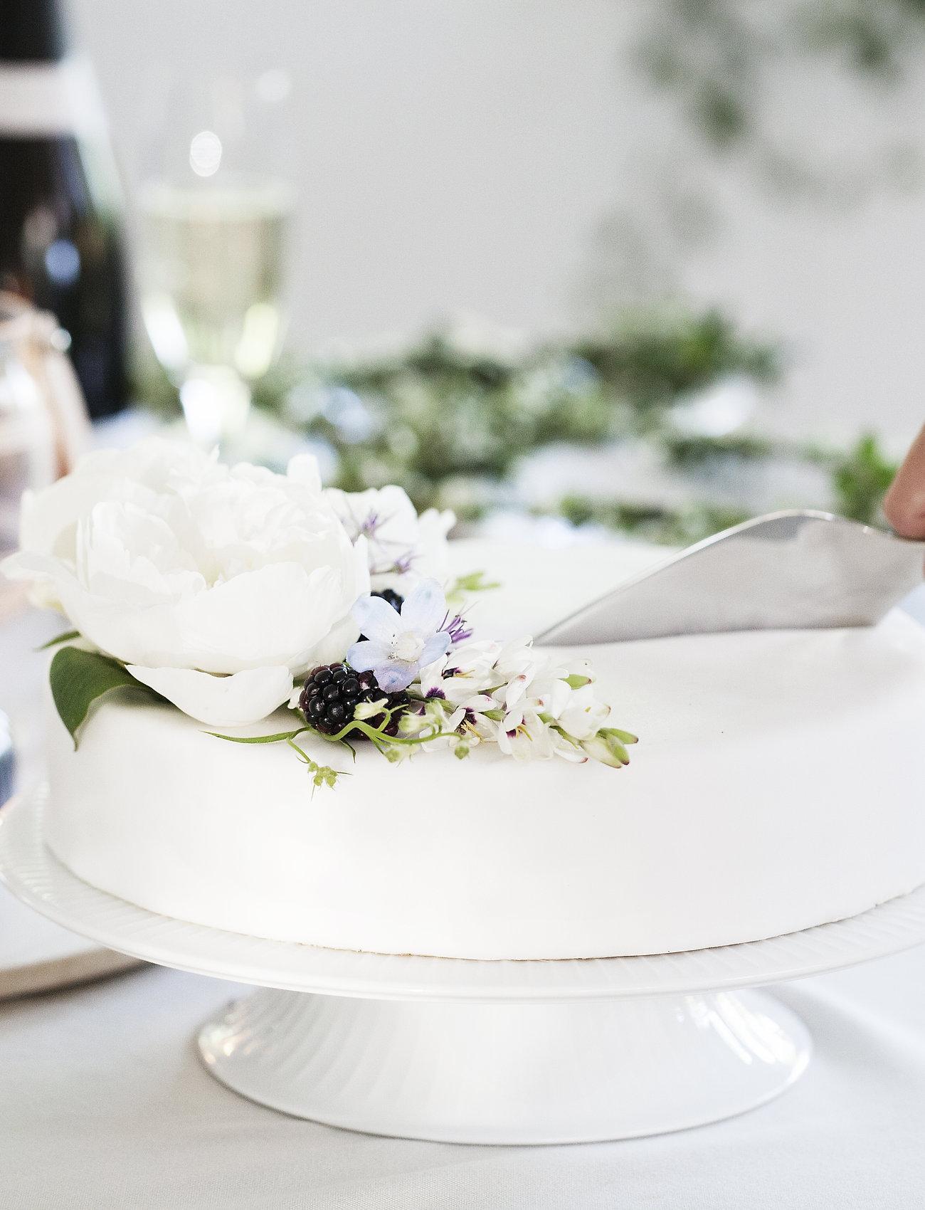 Kähler - Hammershøi Cake dish Ø30cm - kakkulautaset - white - 0