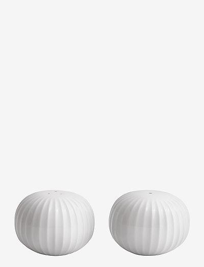 Hammershøi Salt- og peppersett Ø6 cm - krydderkvernere - white