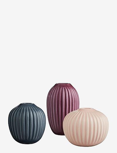 Hammershøi Vase miniature 3 pcs. - maljakot - rose