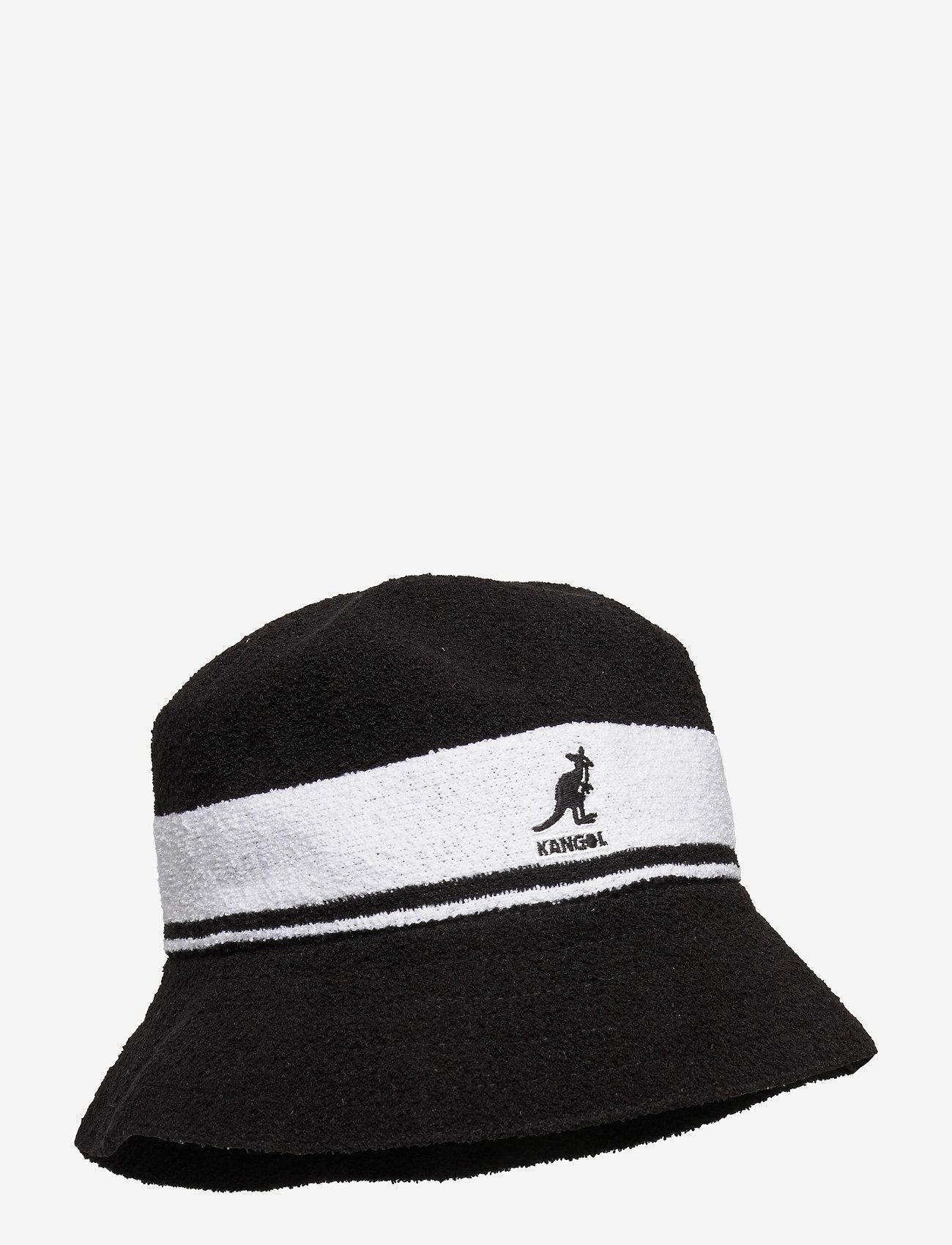 Kangol - KG BERMUDA STRIPE BUCKET - bucket hats - black - 0