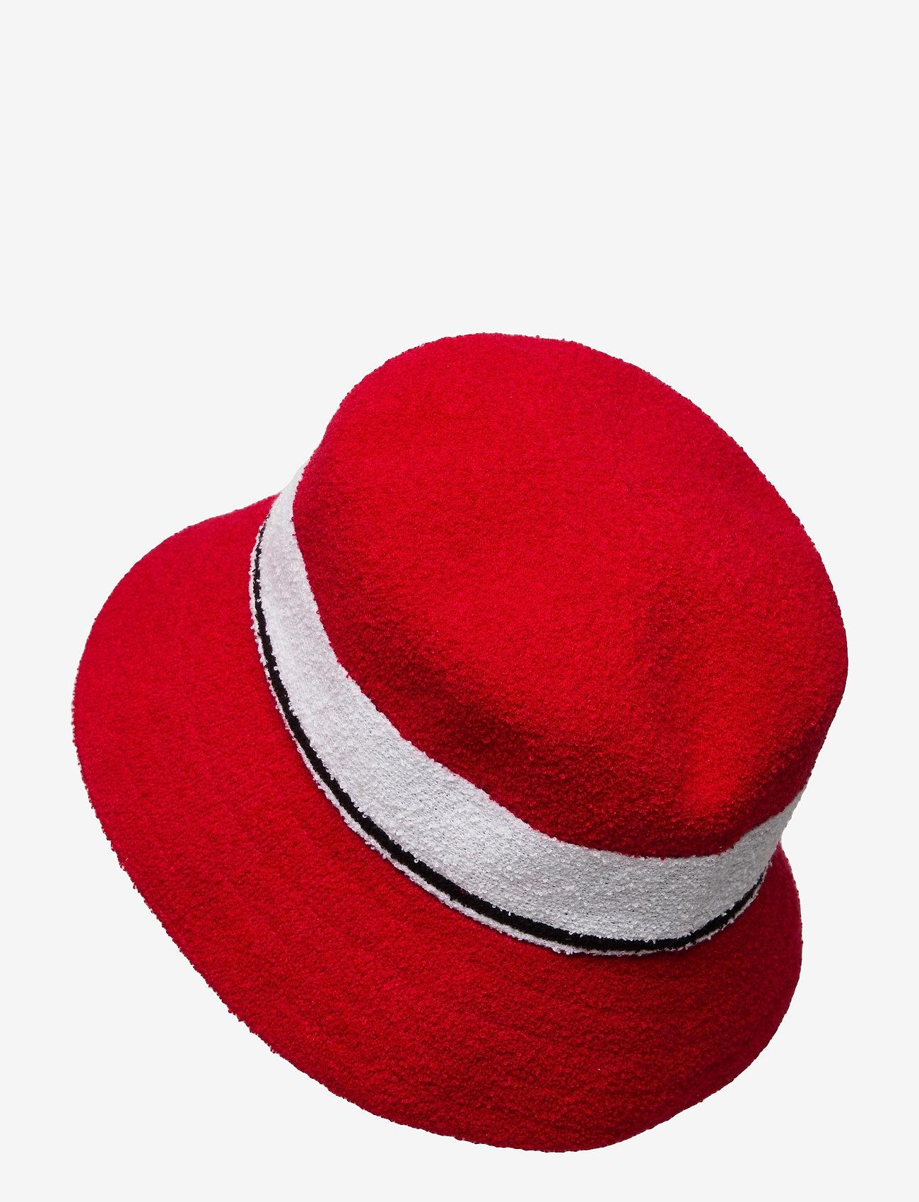 Kangol - KG BERMUDA STRIPE BUCKET - bucket hats - scarlet - 1