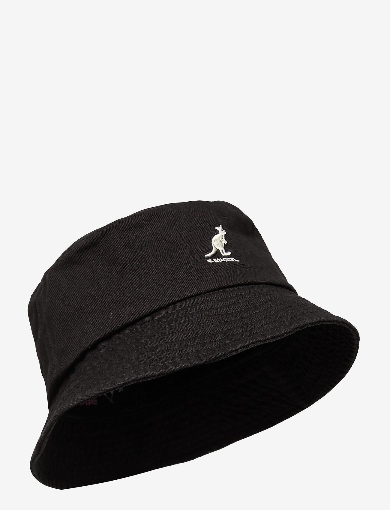 Kangol - KG WASHED BUCKET - bucket hats - black - 0