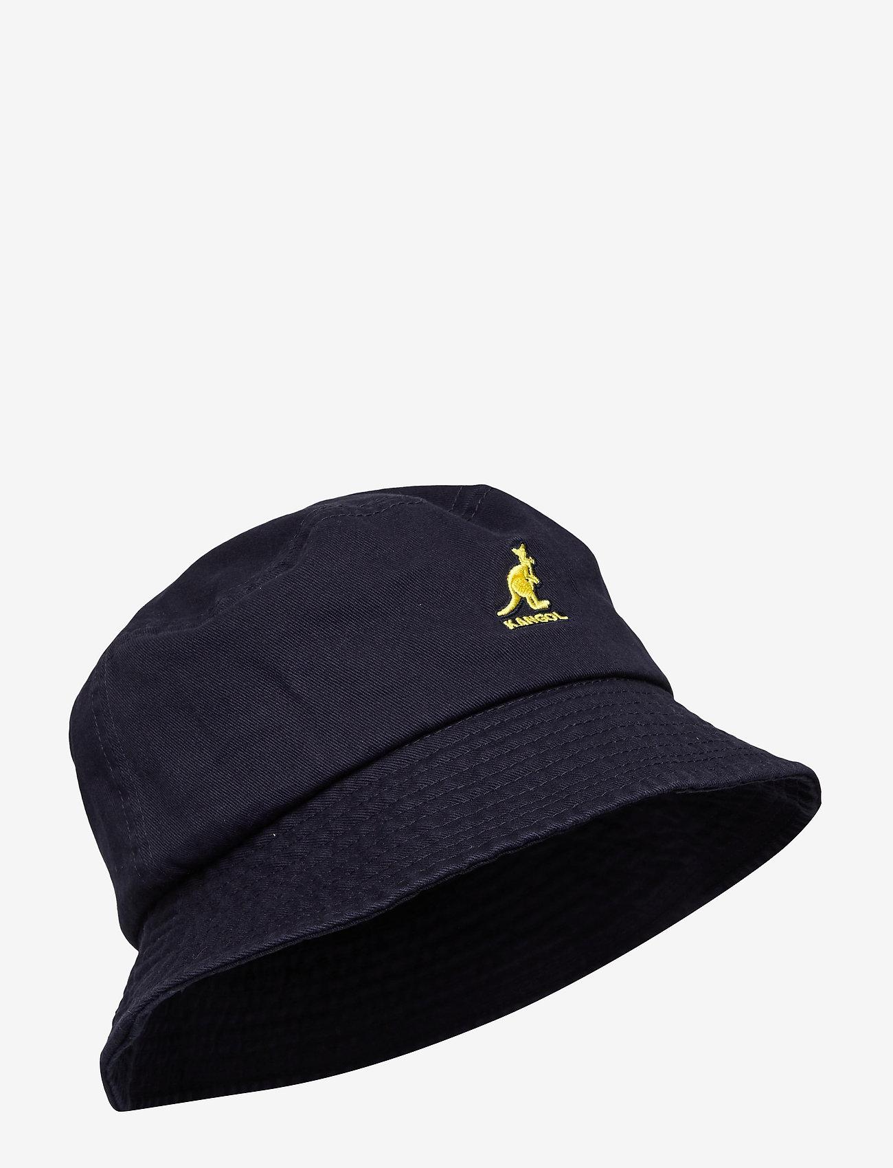Kangol - KG WASHED BUCKET - bucket hats - navy - 0