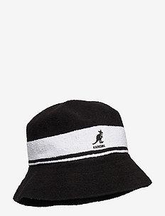 KG BERMUDA STRIPE BUCKET - bucket hats - black