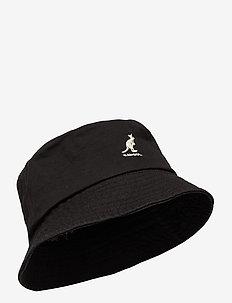 KG WASHED BUCKET - bucket hats - black