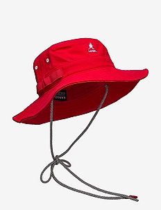 KG UTILITY CORDS JUNGLE HAT - bucket hats - red