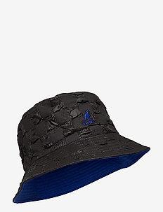 KG PUCKER CHECK BUCKET - bucket hats - black