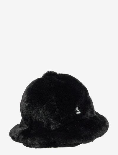KG FAUX FUR CASUAL - bøllehatte - black
