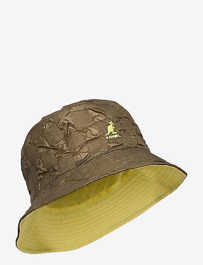 KG PUCKER CHECK BUCKET - bucket hats - olive