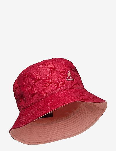 KG PUCKER CHECK BUCKET - bucket hats - red velvet