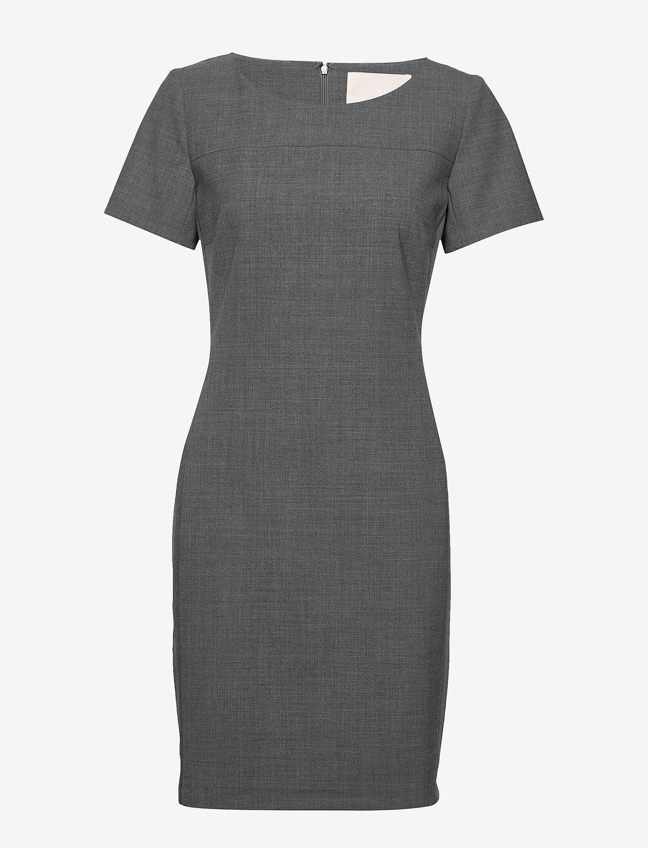 Karen By Simonsen - SydneyKB SS Dress - fodralklänningar - grey melange - 0