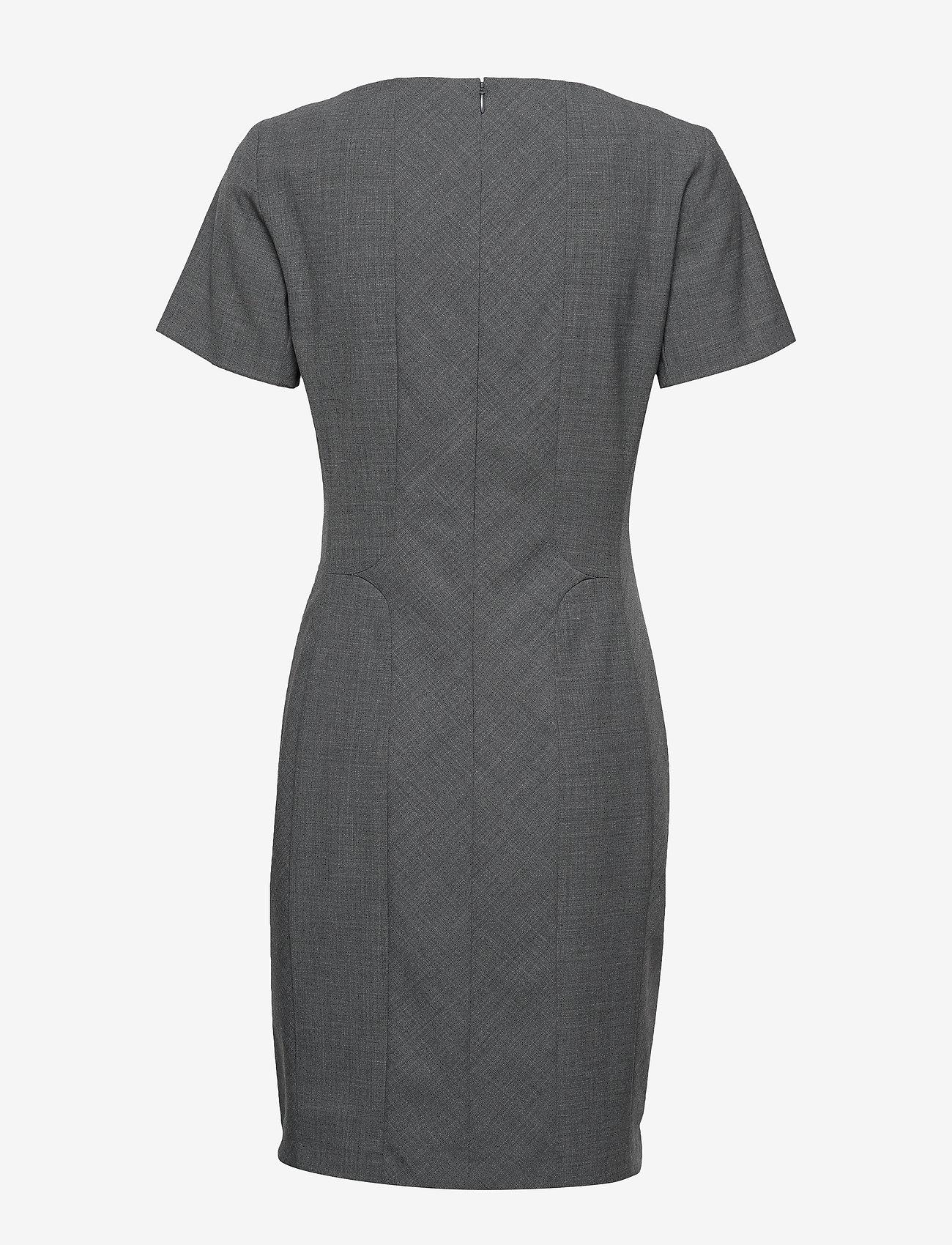 Karen By Simonsen - SydneyKB SS Dress - fodralklänningar - grey melange - 1