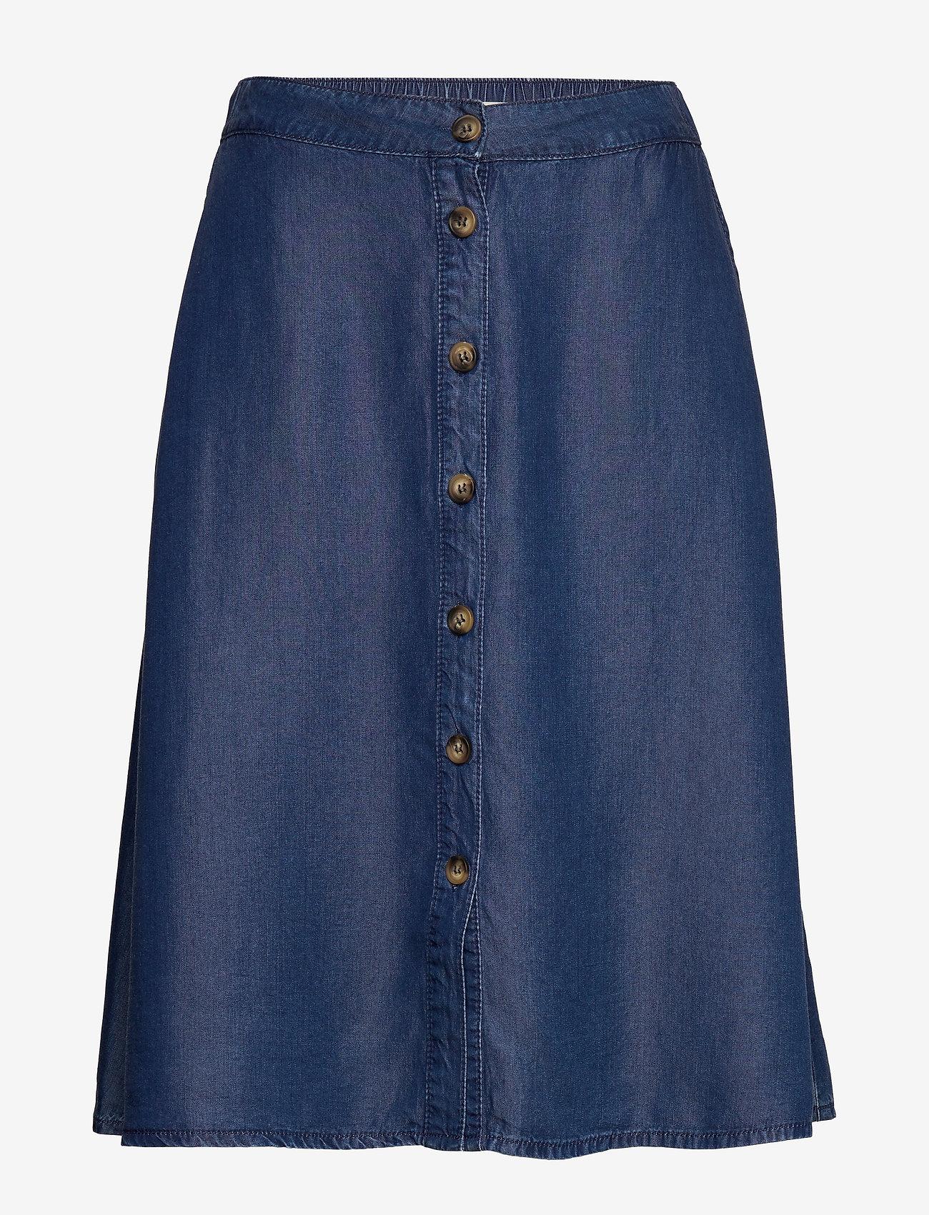 Karen By Simonsen - TaliaKB Skirt - jeansowe spódnice - estate blue - 0