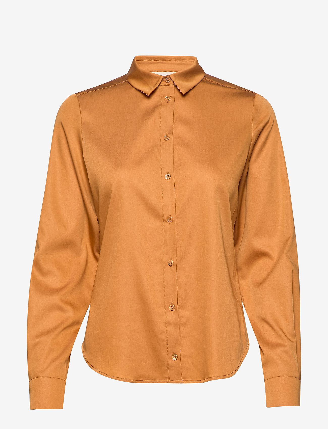 Karen By Simonsen - BinaKB Fitted Shirt - chemises à manches longues - brown sugar - 0