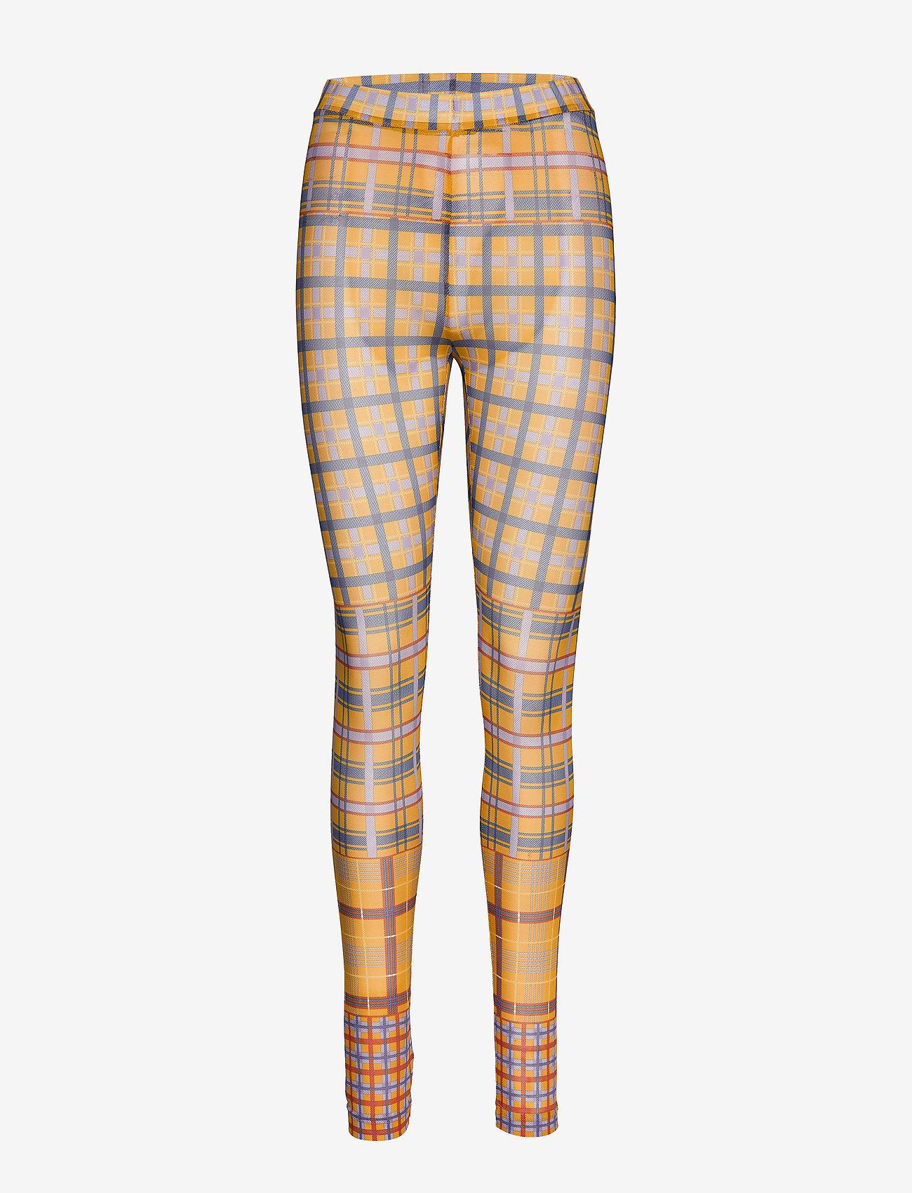 Karen By Simonsen - PeonyKB Leggings - panty's - yellow check - 0