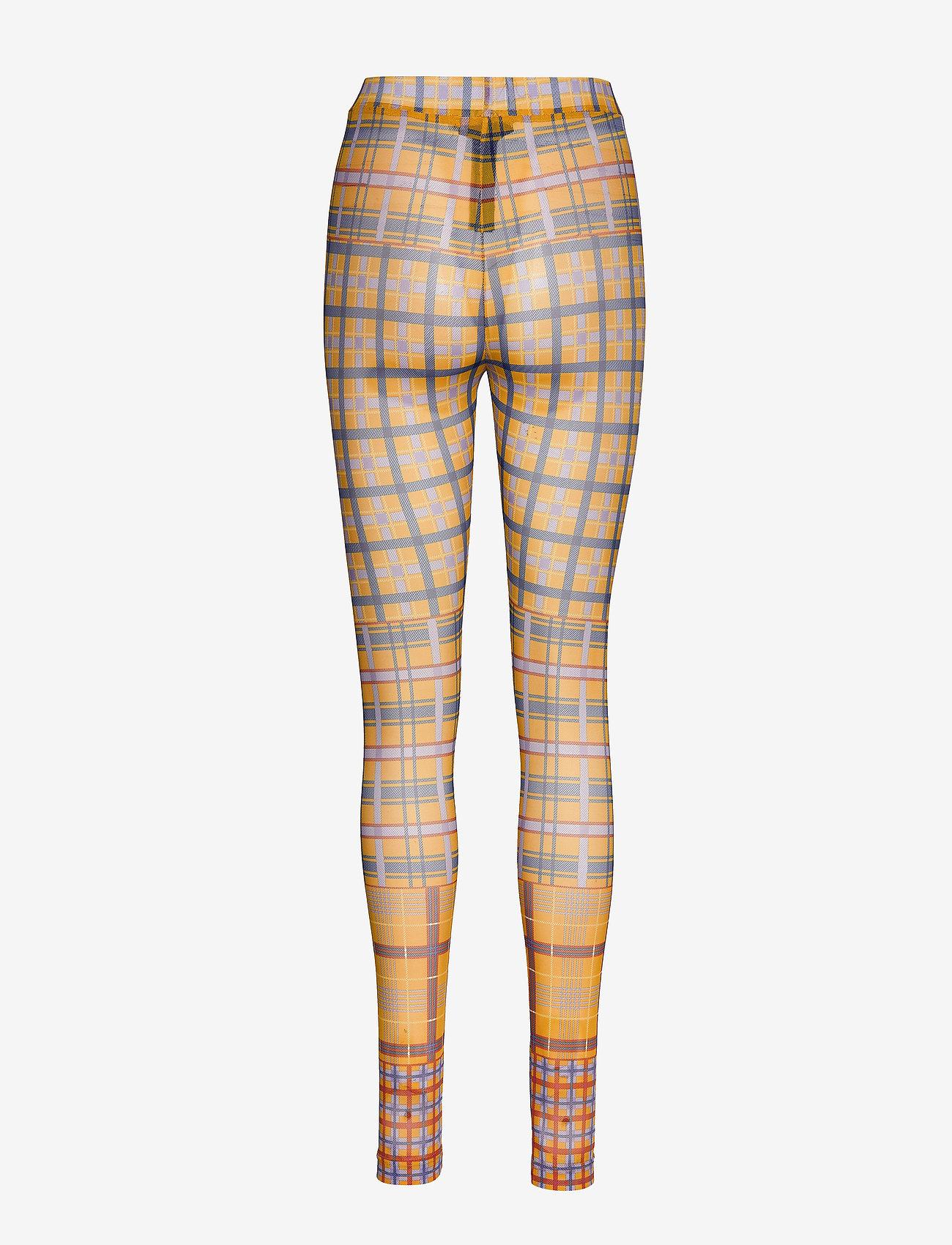 Karen By Simonsen - PeonyKB Leggings - panty's - yellow check - 1