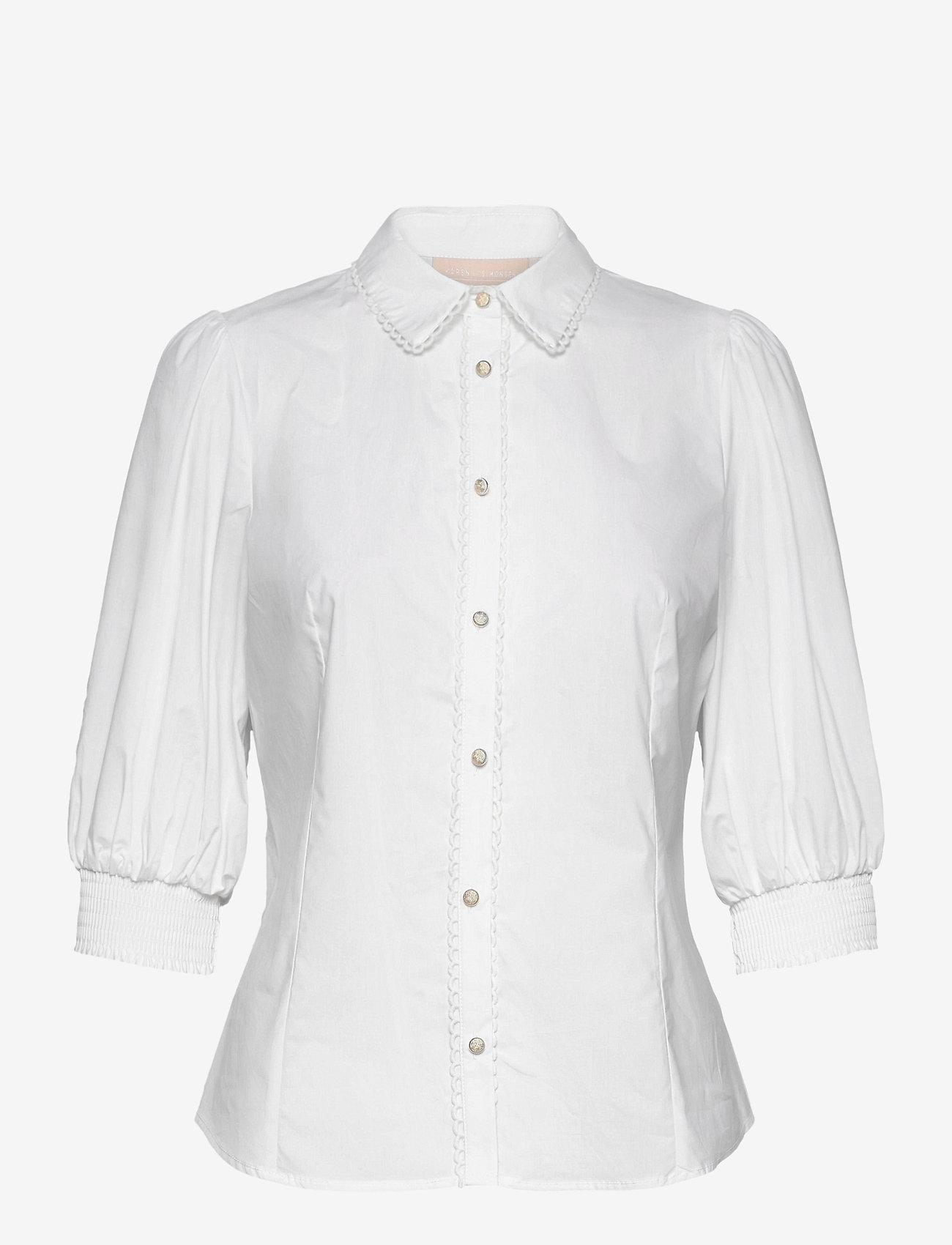 Karen By Simonsen - ChillyKB Blouse - chemises à manches longues - bright white - 0