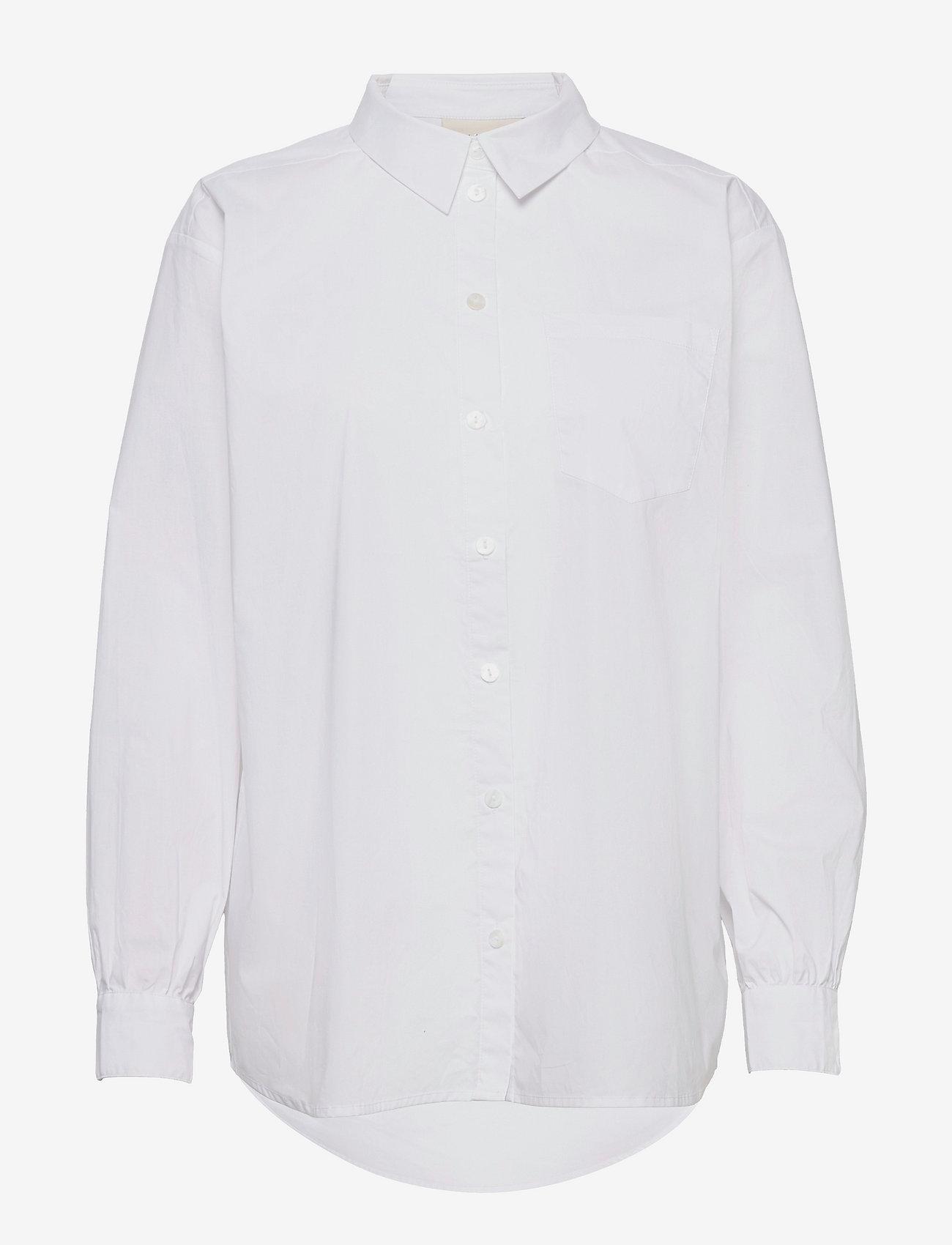 Karen By Simonsen - NinjaKB Shirt - denimskjorter - bright white - 1