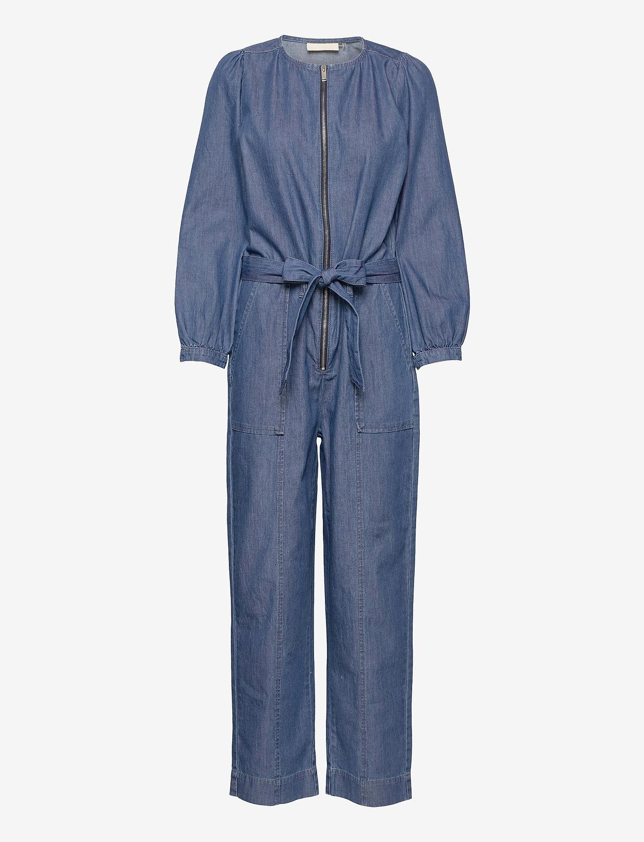 Karen By Simonsen - FigureKB Jumpsuit - jumpsuits - medium blue denim - 1