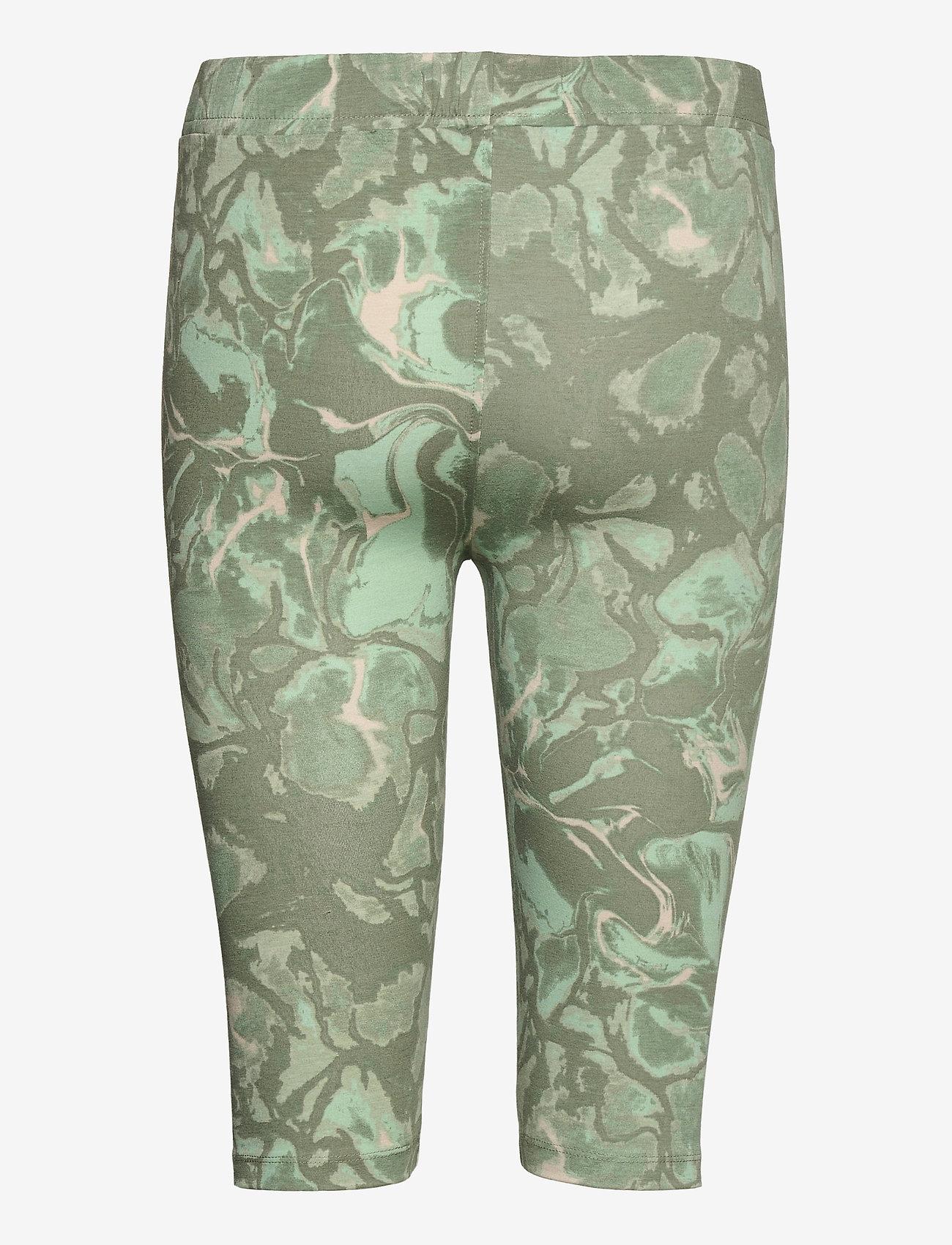 Karen By Simonsen - GumiKB Printed Shorts - cykelshorts - seagrass glaze - 1