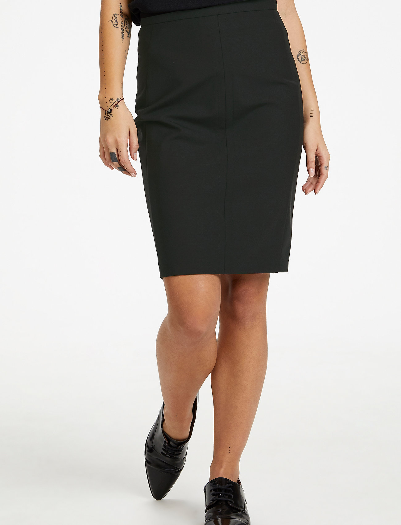 Karen By Simonsen - SydneyKB Pencil Skirt - midi kjolar - black - 0